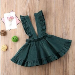 Other - NWT Corduroy Hunter Green Suspender Dress